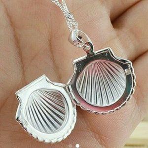 925 Seashell Locket Pendant